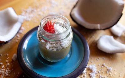 Mousse vegano de Guáimaro y aceite de coco